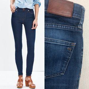 "MADEWELL 9"" High Riser Skinny Jeans Davis Size 25"